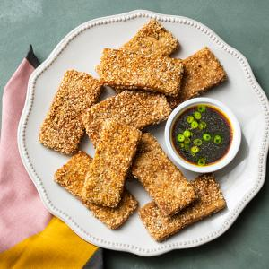 Sesame Tofu with Soy Dipping Sauce