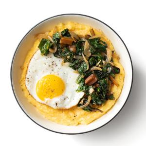 Polenta with Sauteed Greens and Fried Eggs
