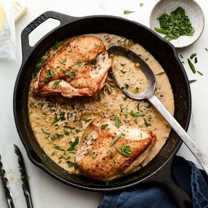 Roasted Chicken Breasts with Dijon Sauce