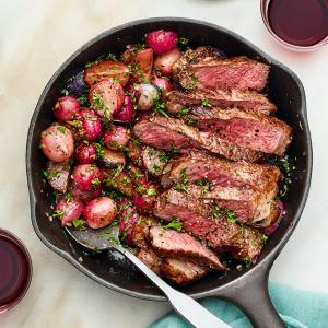 One-Pan Steak and Radishes