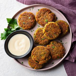 Baked Falafel with Tahini Sauce