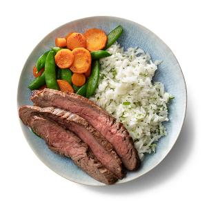 Flank Steak and Veggies with Coconut Rice