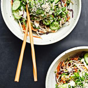 Soba Noodle Salad with Chicken