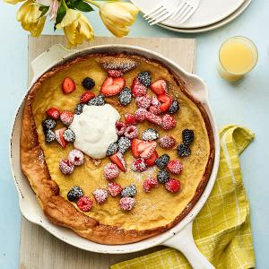 Dutch Baby with Berries and Citrus Cream