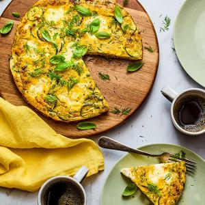 Zucchini Frittata with Ricotta and Herbs