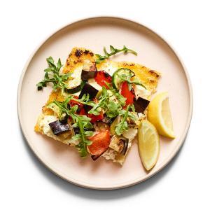 Mixed Veggie Tart with Polenta Crust