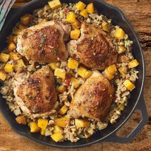 Chef Dorene Mills' Chicken and Rice Skillet with Butternut Squash