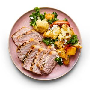 Skillet Pork Chops with Fall Panzanella