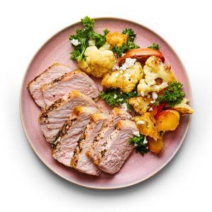 Skillet Pork Chops with Fall Panzanella