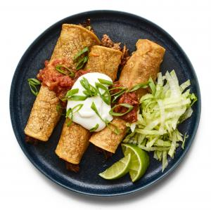 Baked Beef and Cheese Taquitos