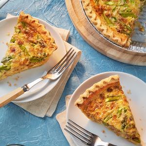 Asparagus and Gruyere Quiche