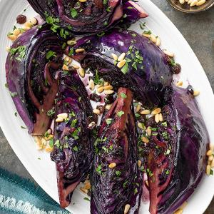 Sweet and Tangy Cabbage Wedges