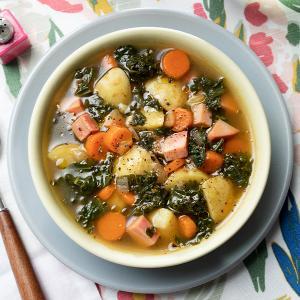 Ham, Potato, and Kale Soup