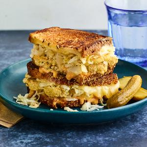 Roasted Cauliflower Reubens