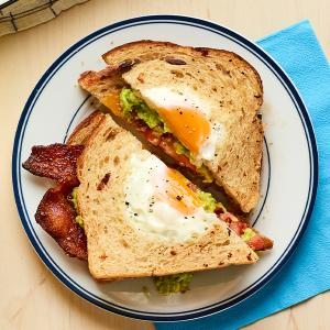 Sheet-Pan Egg-in-a-Hole Sandwiches