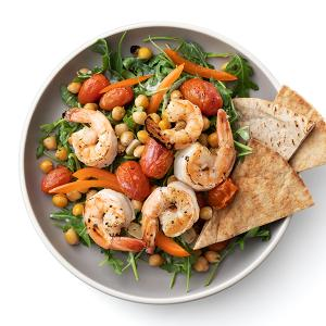 Broiled Shrimp with Tomatoes and Chickpeas