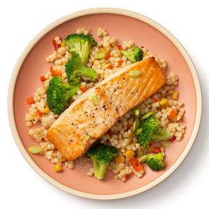 Roasted Salmon with Broccoli and Couscous