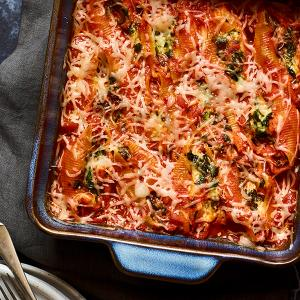 No-Boil Stuffed Shells with Butternut Squash and Spinach