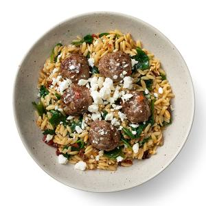 Greek-Style Meatballs with Orzo