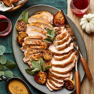 Brown Butter-Sage Turkey Breast with Gravy