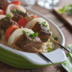 Middle Eastern Beef Brochettes with Couscous