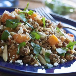 Beef, Squash, and Couscous Skillet