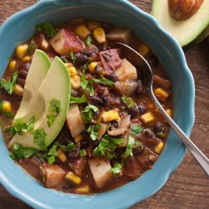 Quick Black Bean Mexican Soup