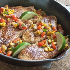 Turkey Cutlets With Corn Salsa