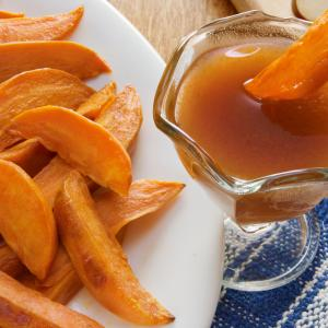 Sweet Potato Wedges with Apple Cider Reduction