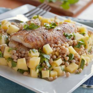 Moroccan Fish with Mango & Couscous