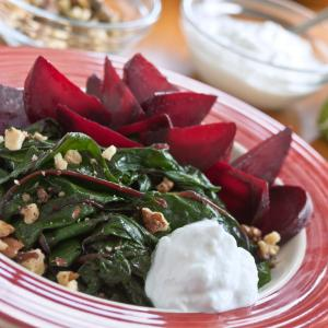 Roasted Beets & Greens with Lemon
