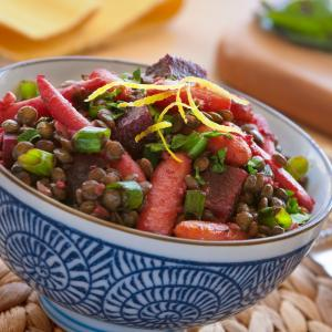 Roasted Roots and Lentil Salad