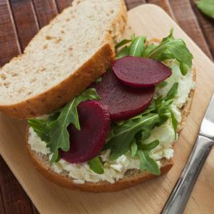 Roasted Beet & Goat Cheese Sandwich