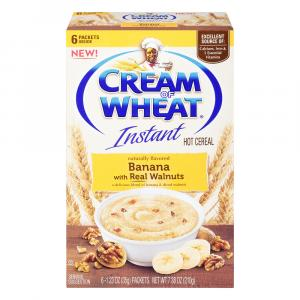 Cream Of Wheat Instant Hot Cereal Banana & Diced Walnuts