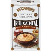 McCann's Instant Irish Oatmeal Maple & Brown Sugar