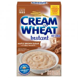 Cream Of Wheat Maple Brown Sugar With Walnuts Hot Cereal