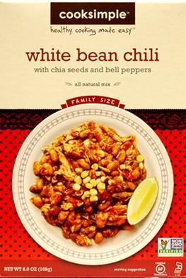 Cooksimple White Bean Chili Mix
