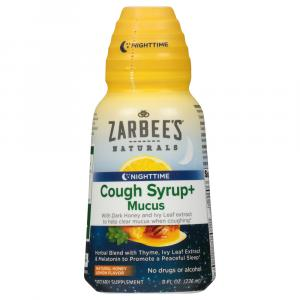 Zarbee's Nighttime Cough Syrup + Mucus With Dark Honey