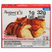 Real Good Bacon Wrapped Pepperjack Cheese Stuffed Chicken