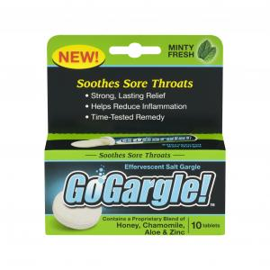 Gogargle Sore Throat Minty Fresh Salt Gargle