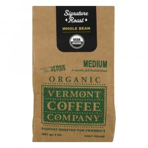 Vermont Coffee Company Whole Bean Organic Medium Roast