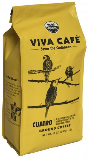 Viva Cafe Organic Cuatro Ground Coffee