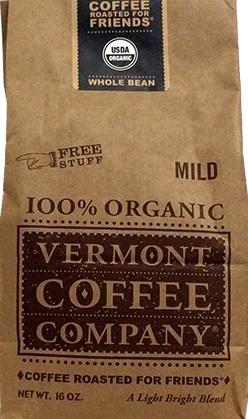 Vermont Coffee Company Organic Mild Roast Coffee