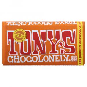 Tony's Chocolonely Milk Chocolate Caramel Sea Salt Bar