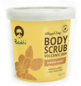 Bodhi Whipped Soap Body Scrub Volcanic Ash Almond Honey
