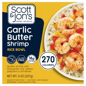 Cheating Gourmet Garlic Butter Shrimp Rice Bowl