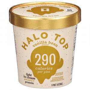 Halo Top Vanilla Bean Light Ice Cream