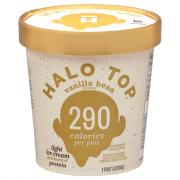 Halo Top Vanilla Bean Light Ice Cream