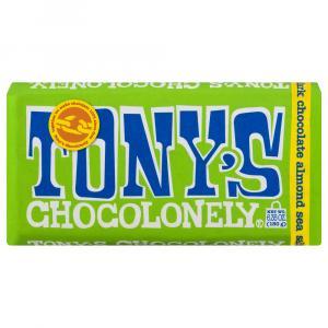 Tony's Chocolonely Dark Chocolate Almond Sea Salt Bar