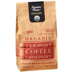 Vermont Coffee Company Whole Bean Organic Decaf Roast